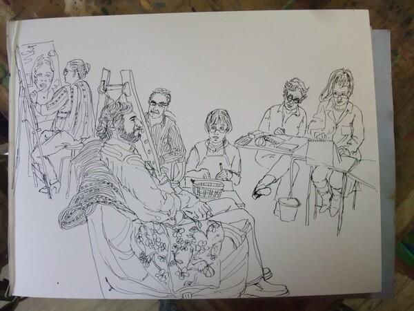 Scène d'atelier : Mise en place des personnages
