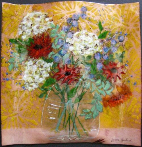 Des cours avec Lorraine Bouchard, peintre-émailleure