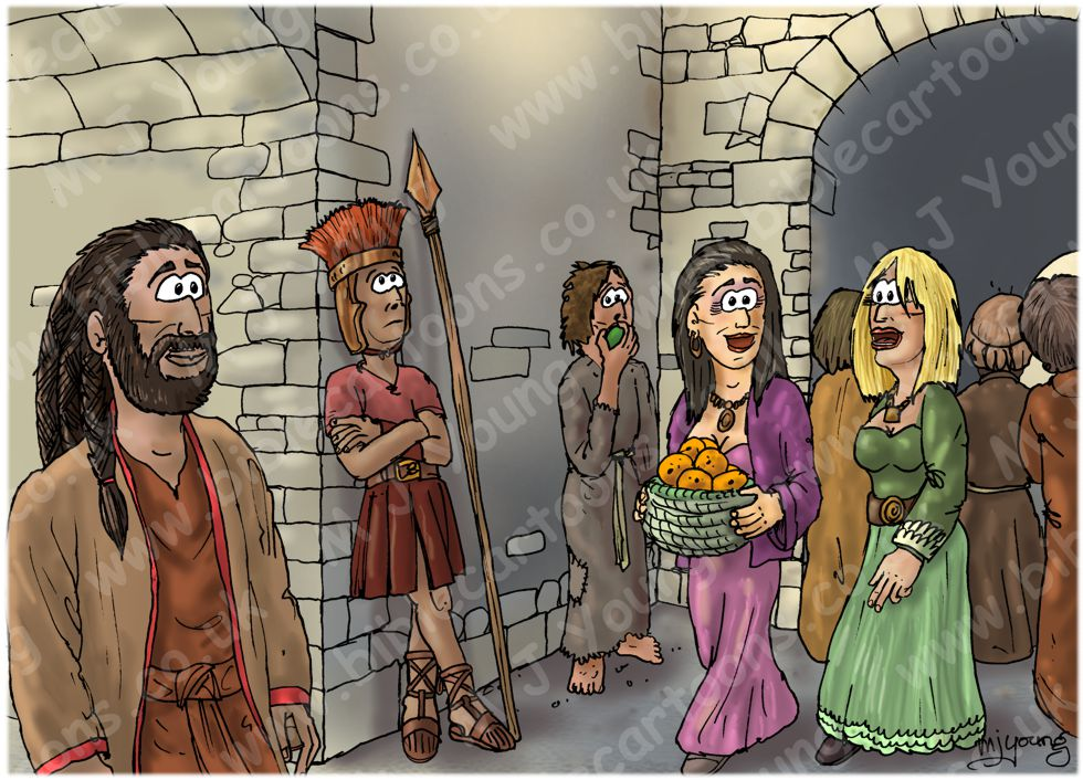 Judges 14 - Samson's marriage - Scene 01 - Samson in Timnah 980x706px col.jpg