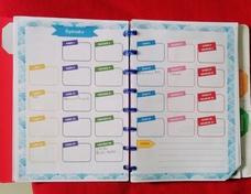calendrier 2021/2022 et cahier de maitresse