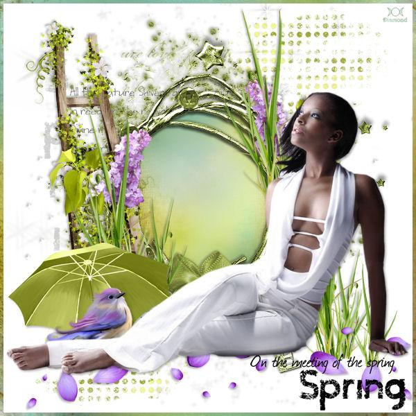 """Tutoriel """"The Meeting Of The Spring"""" de Jewel chez Delire2scrap"""