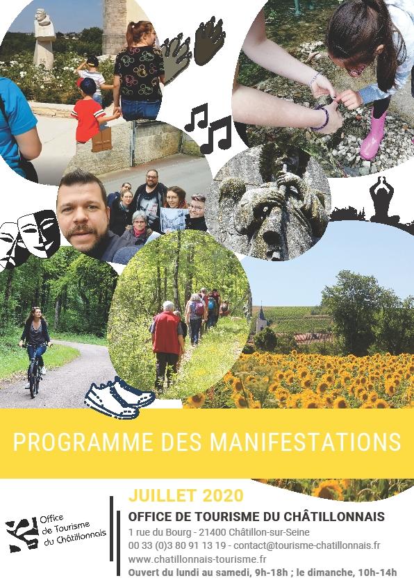 Agenda des manifestations de l'Office de Tourisme du Pays Châtillonnais pour 2020
