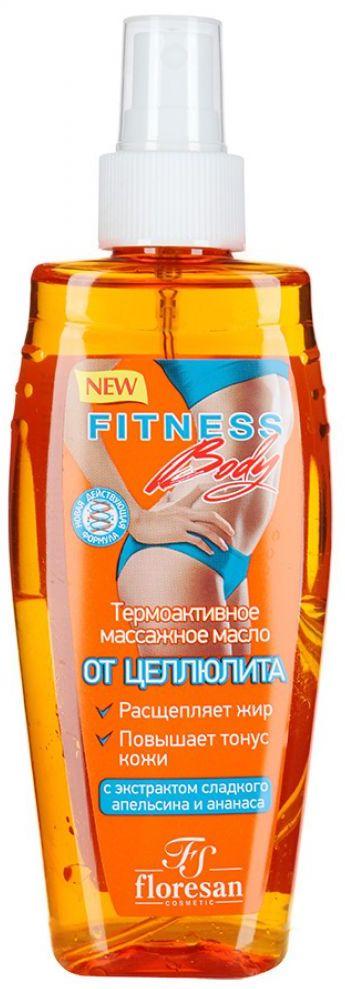 Floresan фитнес body термоактивное массажное масло от целлюлита