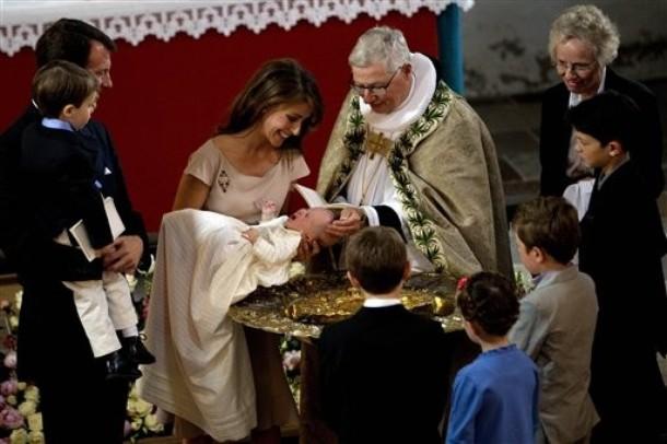 Baptême de la princesse Athena Marguerite Françoise Marie