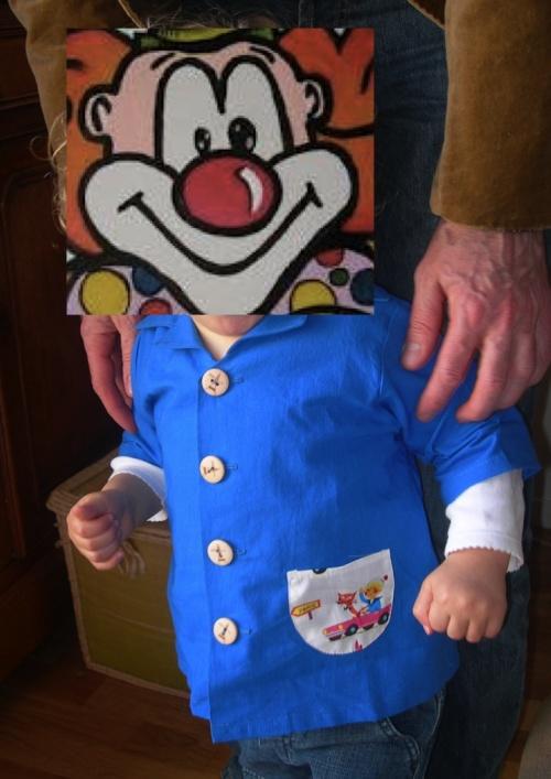 """Blouse """"en route pour Paris"""" pour petit Clown"""