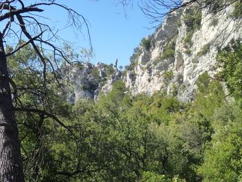 Depuis le sentier des Orris, vue sur le Nord de la falaise