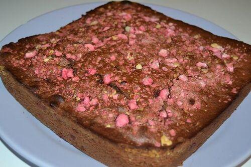 Gâteau au chocolat et aux pralines
