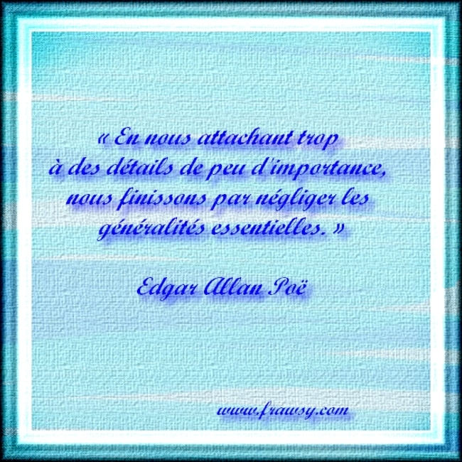 Citations et Proverbes 3:  Une citation d'Edgar Allan Poe