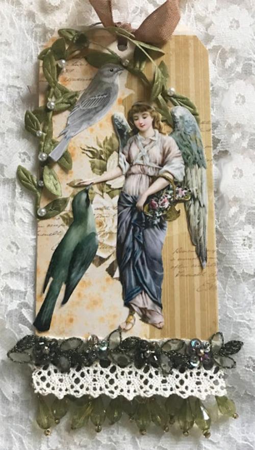 """Les jolis scraps de Laura Carson sur le thème """"les anges de Noël"""""""