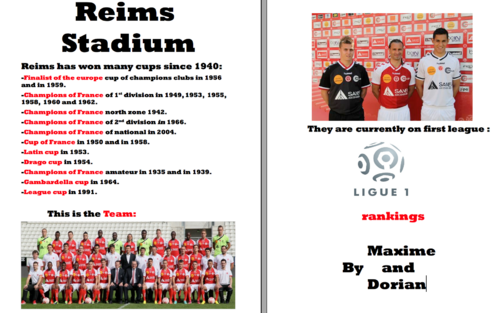 FOOTBALL AND REIMS
