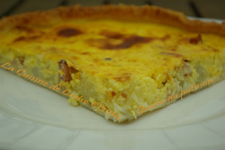 Quiche au pâtisson
