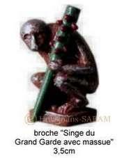 Objet de diffusion du Patrimoine, Mons, Singe du Grand Garde avec massue - Arts et sculpture: sculpteur mouleur