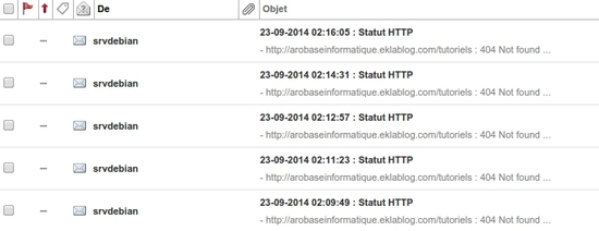 Surveiller le statut de vos sites Web avec un script