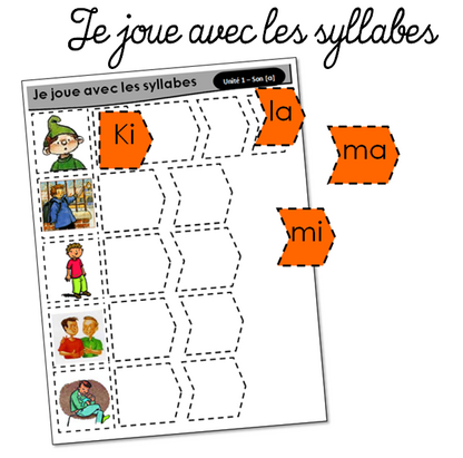 Jouer avec les syllabes pour Kimamila
