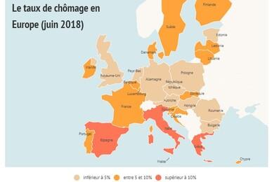 """Résultat de recherche d'images pour """"chomage pays 2018"""""""