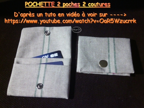 Pochette 2 poches 2 coutures ultra-simple
