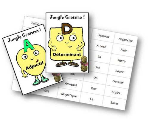Jungle gramma - classes grammaticales