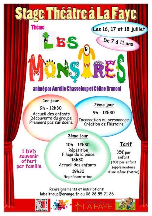 Stage théâtre enfants à La Faye (16700)