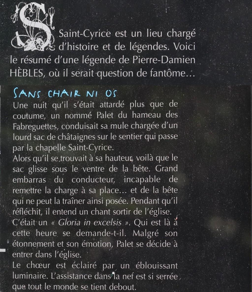 CHAPELLE SAINT CYRICE (AVEYRON) 2° PARTIE
