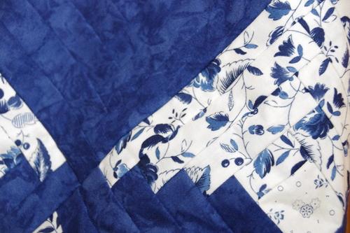 Un sac en bleu