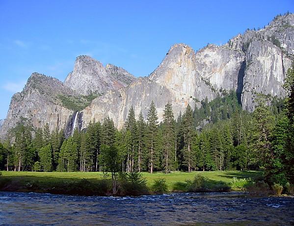Yosemite Bridal Veil et rivière Merced
