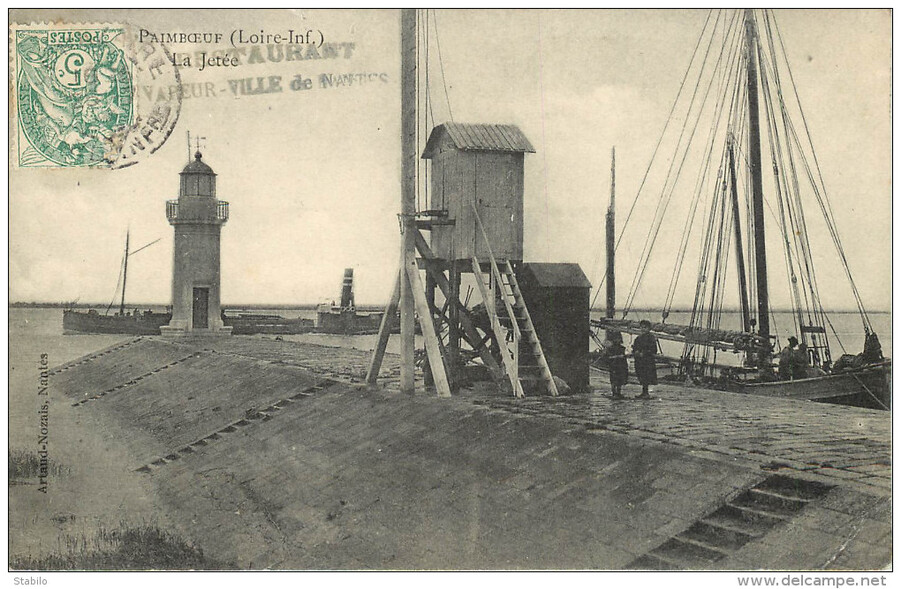 Paimboeuf, le phare et la chaussée.