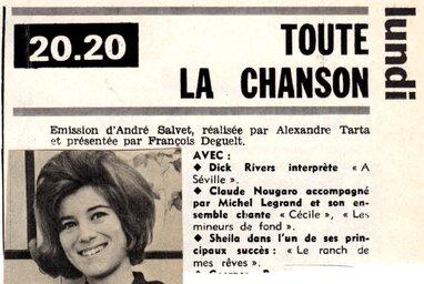29 avril 1963 / TOUTE LA CHANSON
