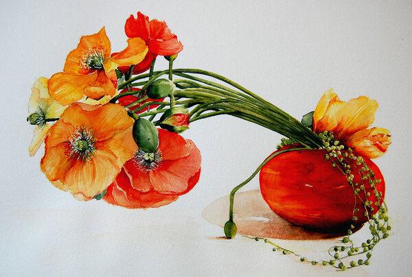 Peinture de : Marie Claire Houmeau