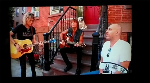 Jammin @TalkStoopNBC w my pals Richie & Luke...and Gracie the dog.