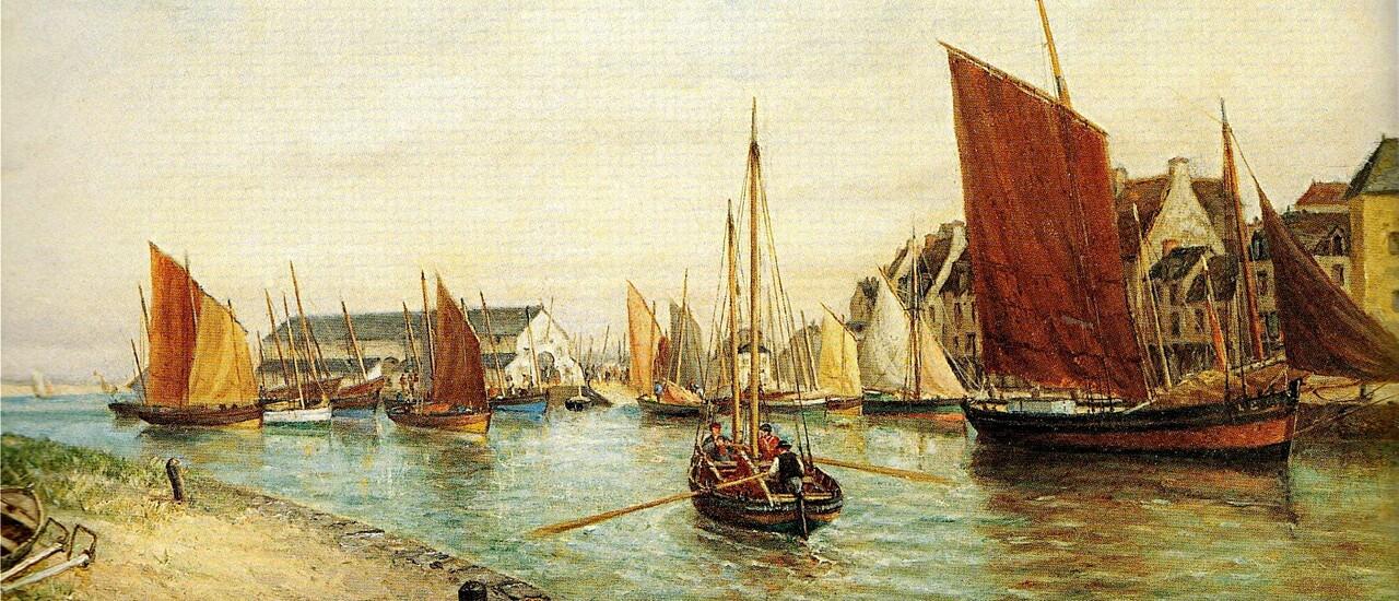 Nantes 2 /  Le quai de La Fosse en 1890