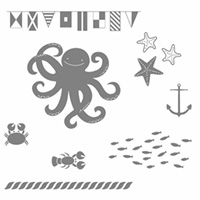 Sea Street Wood-Mount Stamp Set by Stampin' Up!