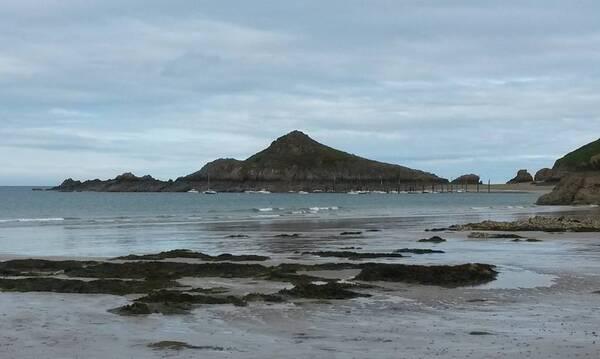 Gwin Segal depuis la plage de Pors Moguer