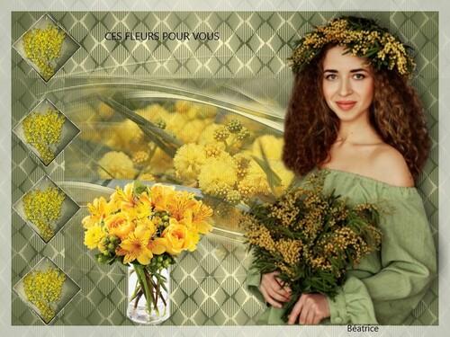 """défi Kalyona N.5""""ces fleurs pour vous"""""""