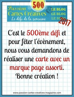 Passion cartes Creéatives#500 !