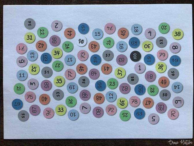 Tables de multiplication : Plateau des nombres