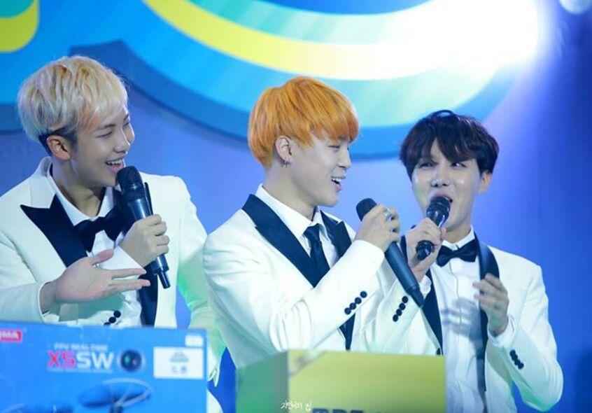 15/01/2016 Infinity Challenge Expo Jin, V + BTS