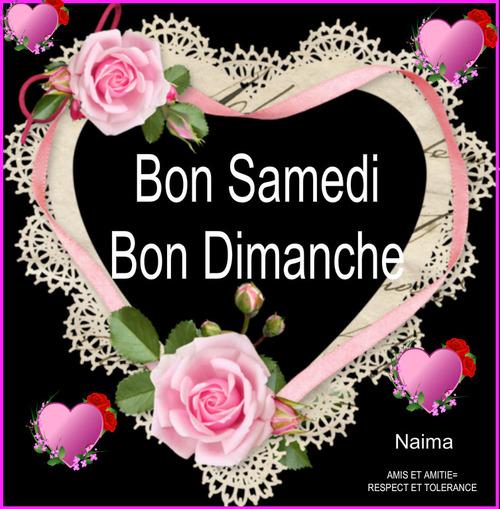 Bon Samedi et Bon Dimanche.