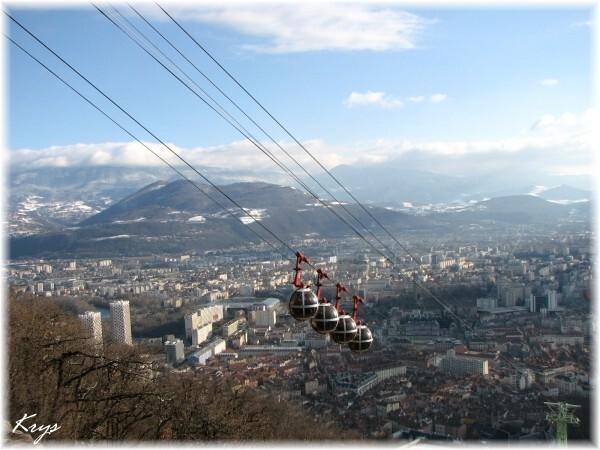 Copie de Vue depuis la Bastille à Grenoble