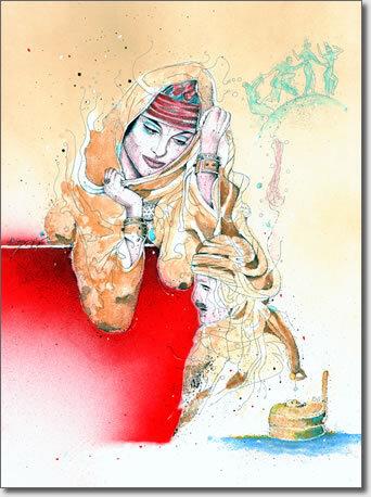 Femmes Algérie - Le chèche