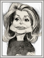 Avatar caricature femmes, femmes célèbres et politiques.