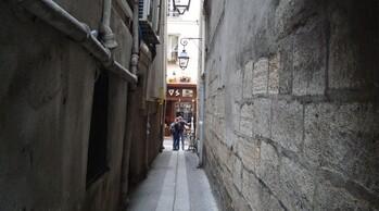 Rues étroites à Paris
