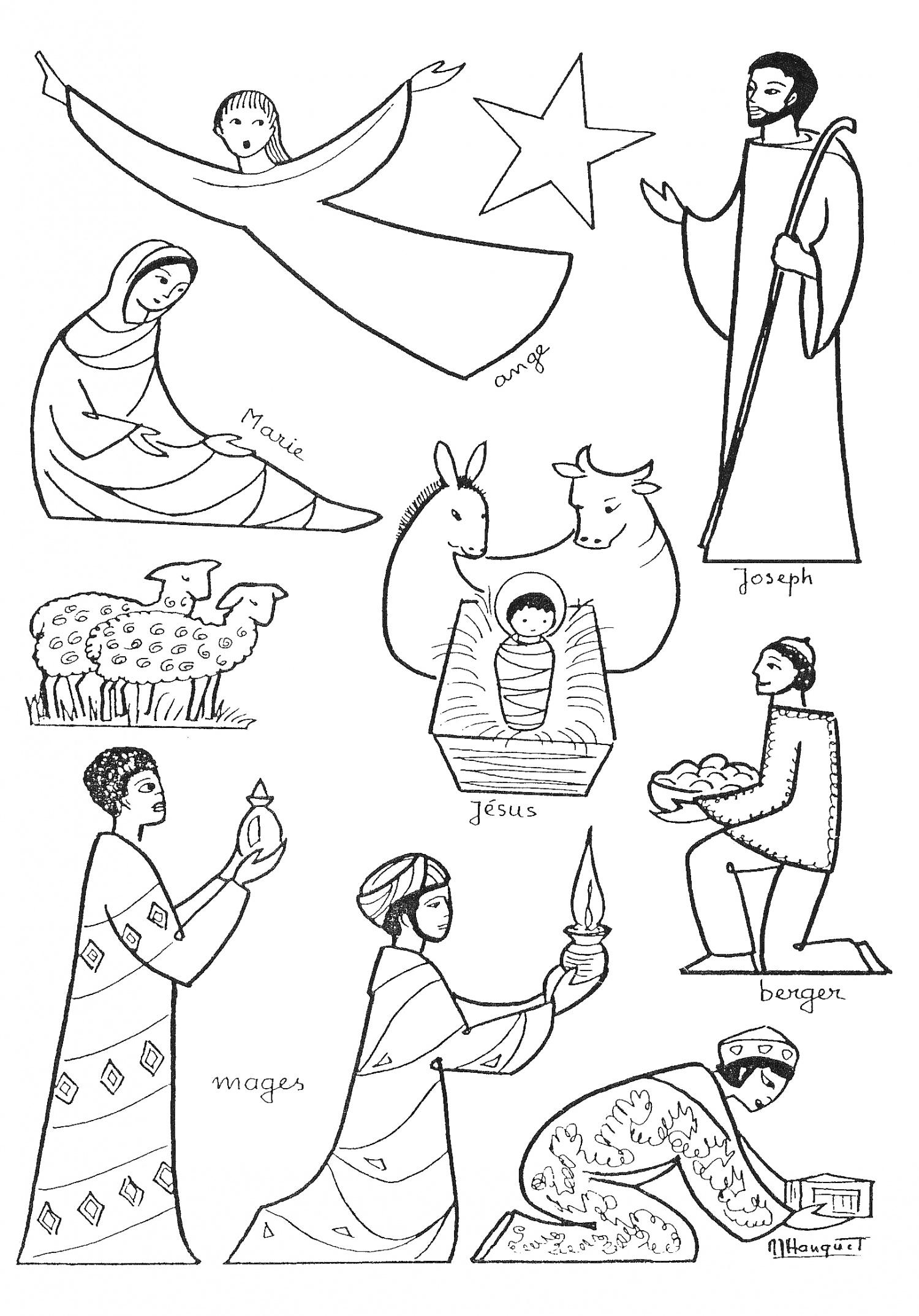 Les personnages de creche - Fabriquer une creche de noel en papier ...