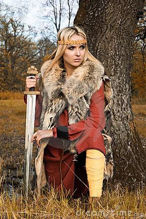 Guerrière de fille de Viking