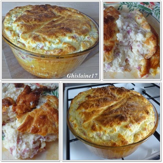 Soufflé au jambon et gruyère