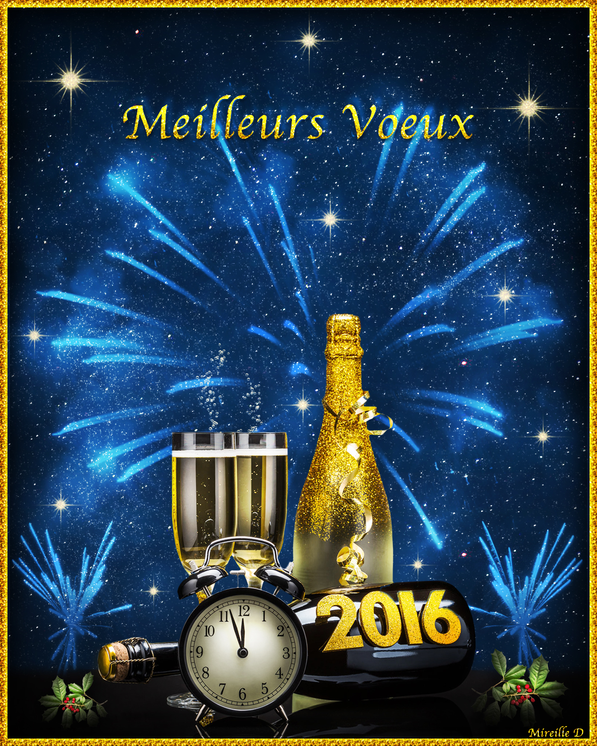 carte de voeux 2016 avec du champagne chez mireille d. Black Bedroom Furniture Sets. Home Design Ideas