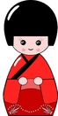 Kimono rouge ou rose miniature