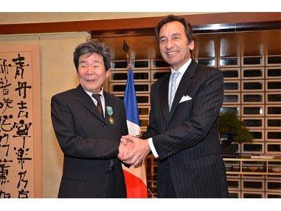 MM. Isao Takahata et Thierry Dana, ambassadeur de France