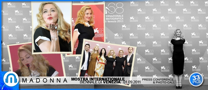 Madonna - WE World Premiere - Venice - 01 09 2011 - Photo-call