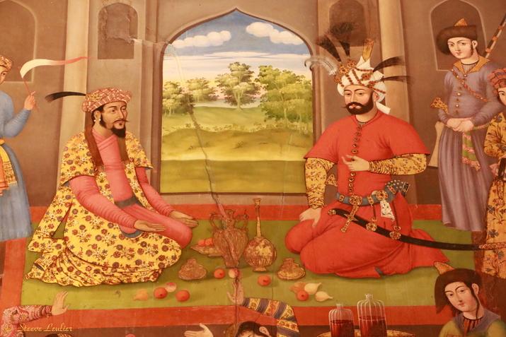 Les peintures du palais des 40 colonnes Chehel Sotun, Ispahan