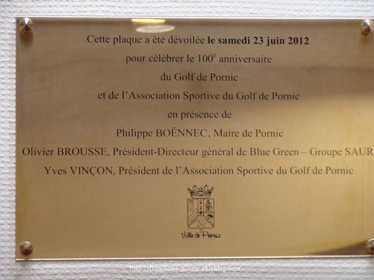 Centenaire du GOLF de PORNIC  1912 - 2012